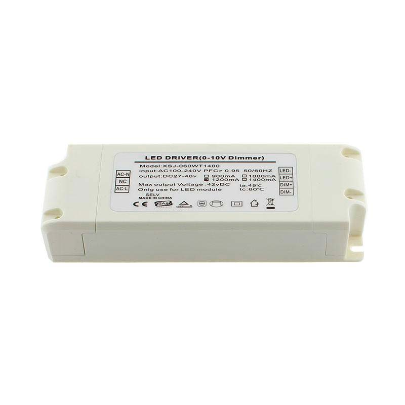 LED Driver TUV DC27-40V/50W/1200mA, Regulable 0-10V, Regulable